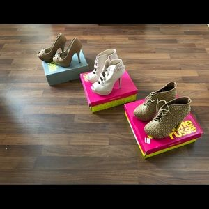 Charlotte Russe heels bundle size 6